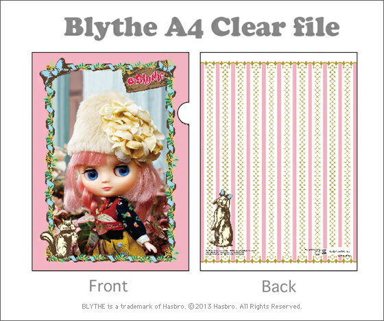 NEW 【メール便OK】 Blythe ブライス A4 クリアファイル 「アンナ」(キャラクター/グッズ/ステーショナリー/かわいい/プレゼント/雑貨/ギフト/童話/楽天/通販) 父の日
