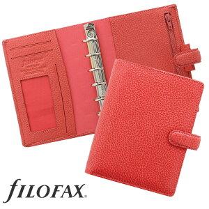 ファイロファックス filofax フィンスバリー Finsbury スモール(ミニ6穴)サイズ システム手帳  ポケットサイズ コーラル ギフト プレゼント 贈り物 メンズ レディース
