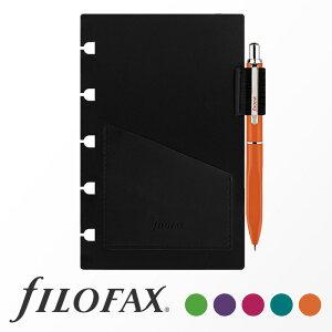 ファイロファックス filofax ノートブック Notebook リフィル ペンホルダー ポケットサイズ ボールペン付き ギフト プレゼント 贈り物 メンズ レディース 【楽ギフ_包装】