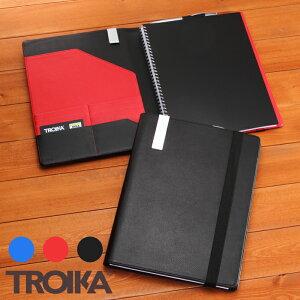 【送料無料】トロイカDINA4手帳カバー(片面開き)Troika