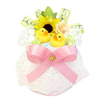 出産祝に★即納!アヒルちゃんベビーのおむつケーキ・ミニ★
