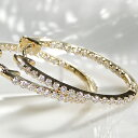 ☆K18YG【0.5ct】ダイヤモンド オーバル フープピアスダイヤ 18金 k18 イエローゴールド ダイア フープ 代引手数料無料 エタニティピア…
