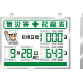 ユニット デジタル無災害記録表 454×604×25厚【環境安全用品】【安全用品・標識】【安全掲示板】