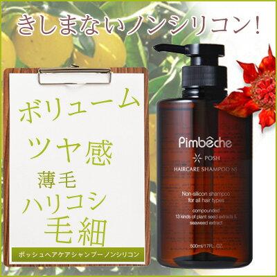 パンベシュ ポッシュ ヘアケアシャンプー NS 500ml アミノ酸 ノンシリコンノンシリコンシャンプー Non-Silicon Shampoo