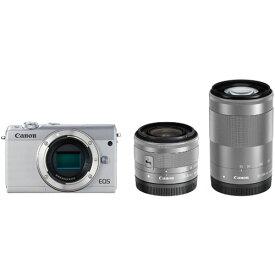 ◆【在庫あり翌営業日発送OK A-8】【お一人様1台限り】Canon キヤノン EOSM100WH-WZK ミラーレス一眼カメラ 「EOS M100」 ダブルズームキット ホワイト EOSM100WZKWH