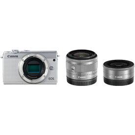 ◆【在庫あり翌営業日発送OK A-8】【お一人様1台限り】EOSM100WH-WLK canon キヤノン ミラーレスカメラ「EOS M100」ダブルレンズキット(ホワイト) EOSM100WHWLK