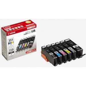 【納期約1〜2週間】BCI-351XL+350XL/6MP Canon キヤノン 【純正】インクタンク 大容量 6色マルチパック BCI351XL350XL6MP