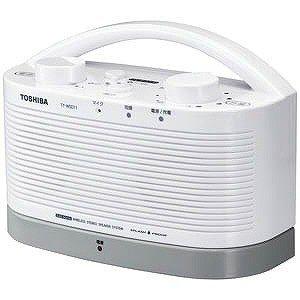 【納期約1〜2週間】TOSHIBA 東芝 TY-WSD11-W 防水対応テレビ用ワイヤレススピーカーシステム(送信機と受信機のセット) TYWSD11W