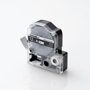 テプラ PRO用テープカートリッジ カラーラベル ビビッド 黒 SD12K [白文字 12mm×8m]