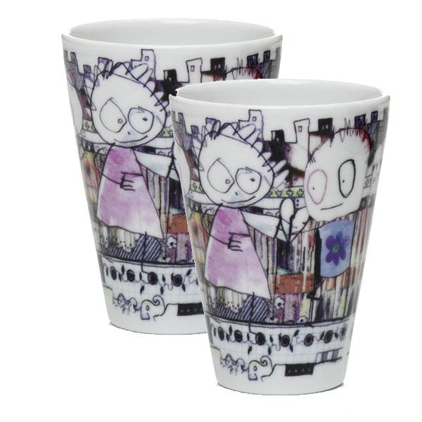 Poul Pava be friendsaida city thermo mug 300ml 2pcs Gift setアイーダ ポールパヴァ サーモマグ300ml2個入ギフトボックス【あす楽対応】【ギフト推奨】【送料無料】