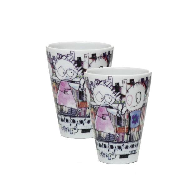 Poul Pava be friendsaida city thermo espresso 100ml 2pcs Gift setアイーダ ポールパヴァ サーモエスプレッソ100ml2個入ギフトボックス【あす楽対応】【ギフト推奨】【送料無料】