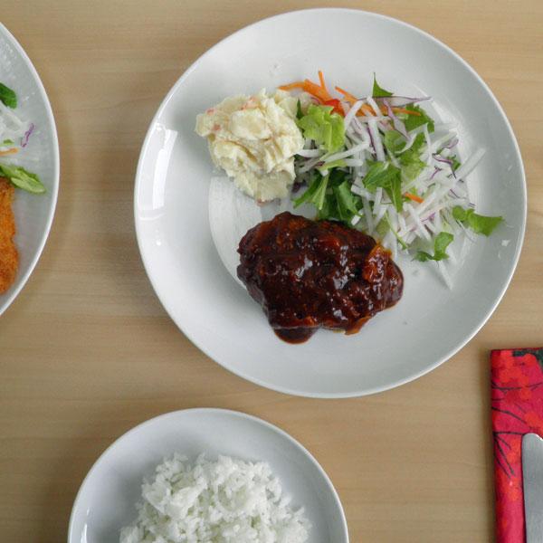 アイーダ アトリエ ディナープレート24cm北欧の白いシンプルなテーブルウェア【あす楽対応】