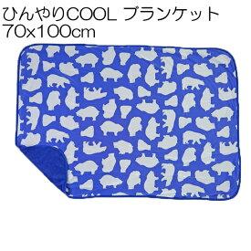 ひんやりブランケット 70×100cm フロワベア ブルー 接触冷感 夏対策 アウトドア お昼寝 ひんやり ひざ掛け 冷感ブランケット 夏 クール 涼感 涼しい 白熊 シロクマ くま