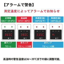 触れずに計れる温度はかろうちゃん三脚スタンドセット非接触型温度計検知器設置型自動測定1秒測定時計USB接続乾電池式商店家庭公共場所企業学校地下鉄空港オフィスMR-NCTB2-SET