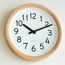 【ポイント10倍】掛け時計【 送料無料】【Lemnos レムノス】Day To Day Clock デイ トゥ デイ クロック PIL12-10 掛時計 木目 ...