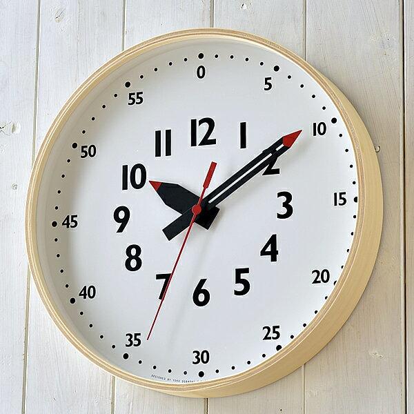 レムノス 掛け時計 北欧 funpunclock ふんぷんくろっく Mサイズ 直径30.5センチ 子供 子供部屋 知育 見やすい 時計 壁掛け 幼稚園 保育園 小学校 入学祝 おしゃれ