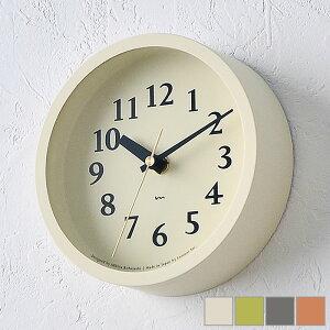 タカタレムノス lemnos 電波時計 エム クロック m clock MK14-04 掛け時計 置き時計 シンプル 北欧 置時計 おしゃれ かわいい アイボリー ピンク グリーン グレー レムノス 置き掛け兼用時計 時計