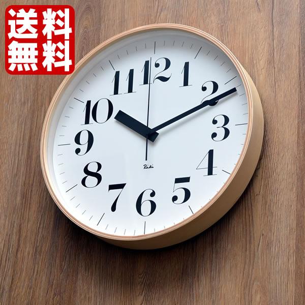 掛け時計 電波時計 Lemnos レムノス riki clock RC リキクロック 渡辺力 北欧 おしゃれ かわいい