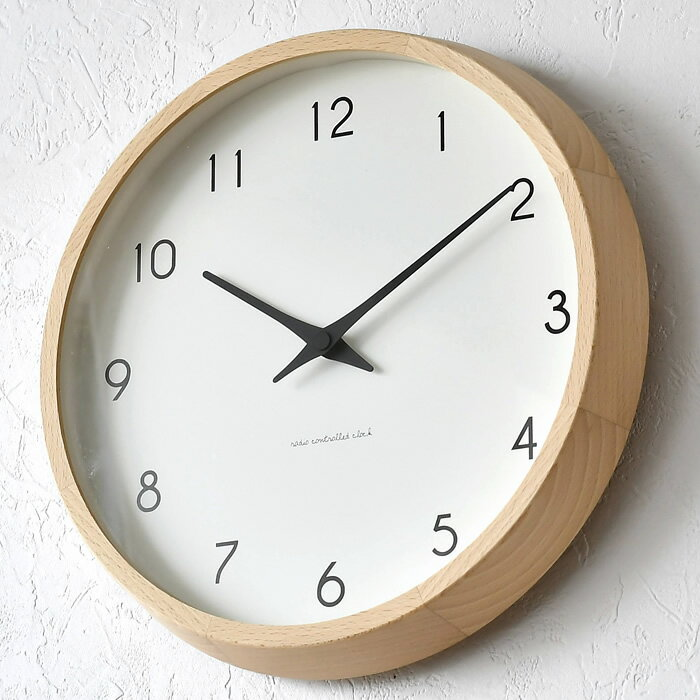 タカタレムノス 掛け時計 電波時計 Lemnos レムノス Campagne カンパーニュ PC10-24W 北欧 おしゃれ かわいい 木製 人気 日本製 音がしない 寝室 キッチン 子供 子供部屋 リビング 時計 壁掛け