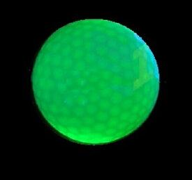 光るゴルフボール【緑色LED連続点灯タイプ】ナイターゴルフ コンペ景品に最適 スイーツ王国