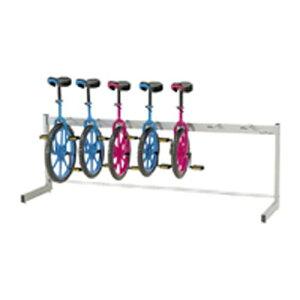 送料無料 エバニュー EVERNEW 一輪車 ラック ハンガー 体育用品 学校 一輪車ラック片面式 7台収納 EKD118