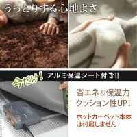 ラグマット洗える1畳190x100北欧ホットカーペット対応床暖房対応7柄シャギー無地ラグマット保温シート付きモリス
