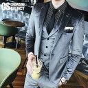 スーツ メンズ ホストスーツ ベロア調 スーツ メンズ ホスト スーツ 3P スリーピース 無地 ブラック 黒 グレー 送料無…