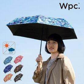 あす楽 Wpc. plantica フラワーアンブレラミニ 折りたたみ 日傘 UVカット 晴雨兼用 [全6色/ブルー/ネイビー/オレンジ/ピンク/マルチ/ブラック] [WPCPL001249] レディース 女性 折り畳み傘 UV対策 遮光 遮熱 遮蔽 紫外線 熱中症対策 ポリエステル100% ギフト