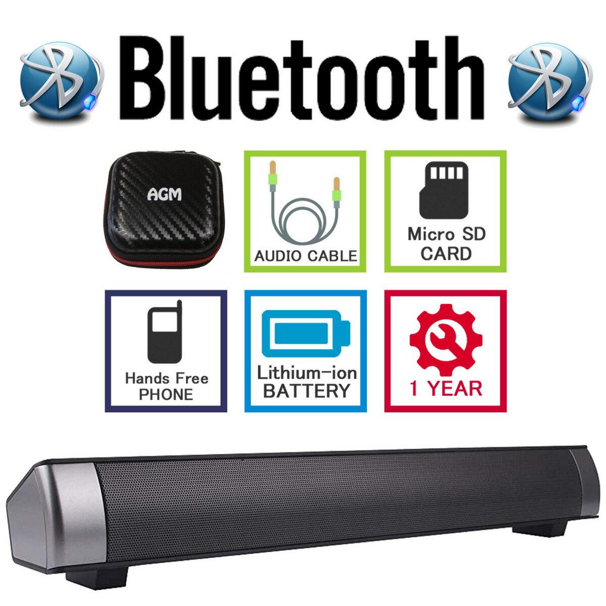 AGM ブルートゥース スピーカー Bluetooth 高音質 高出力 重低音 電話 アウトドア 野外 旅行 屋外 iphone ipad ipod mini pc スマホ コスパ ステレオ ブラック