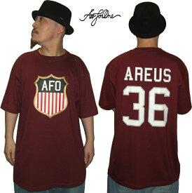 【AFO 】AREUS 36 TEE 【ワイン】アレースTシャツ【ゆうパケット便対象商品】