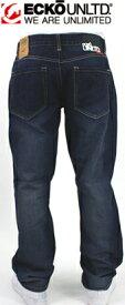 "【ECKO UNLTD】エコーアンリミテッド/ ストレートフィット☆デザインジーンズ ""SLANT DENIM""【MED インディゴ】"