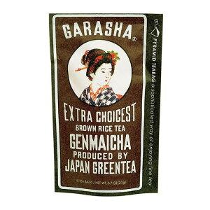 【同梱不可】 GARASHA 日本製 緑茶 ティーバッグ玄米茶 10TB×12セット 20315