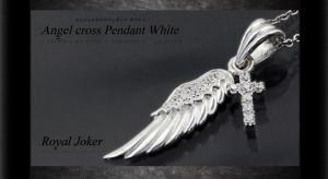 ロイヤルジョーカー Royal Joker エンジェル クロス(Angel cross)ペンダント ホワイト10P03Dec16【楽ギフ_包装】