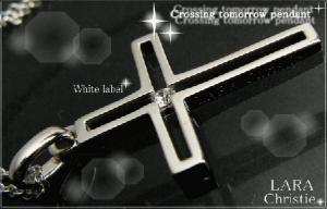 ララクリスティー LARA Christie トゥモロー クロス ネックレス [ WHITE Label ホワイトレーベル] 【送料無料】【即納】【プレゼントに最適】10P03Dec16【楽ギフ_包装】