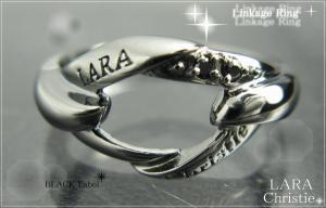 ララクリスティー LARA Christie リンケージ リング [BLACK Label] 【送料無料】【即納】【プレゼントに最適】10P18Jun16【楽ギフ_包装】
