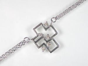 K10WGダイヤブレスレット