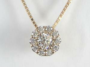 K18PG ピンクゴールド ダイヤモンド ペンダント ネックレス10P03Dec16【楽ギフ_包装】