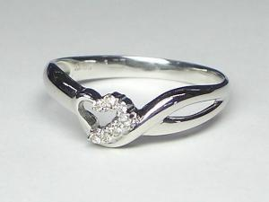 K10WG ホワイトゴールドダイヤモンド ハートハート リング10P18Jun16【楽ギフ_包装】