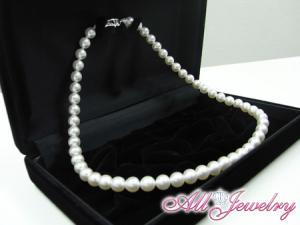 花珠真珠あこや本真珠・花珠パールネックレス7.5〜8.0mm