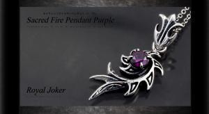 ロイヤルジョーカー Royal Joker セイクレッド ファイヤー(Sacred Fire)ペンダント パープル10P03Dec16【楽ギフ_包装】