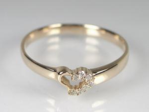 K18PG ピンクゴールドダイヤモンド ハート リング10P18Jun16【楽ギフ_包装】