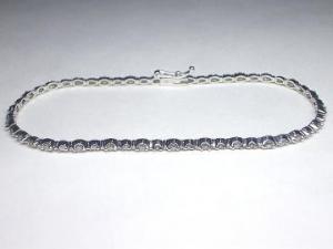 K18WGホワイトゴールドダイヤモンドブレスレット