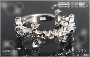 ララクリスティー LARA Christie アントワープ クロス リング(指輪) [ WHITE Label ホワイトレーベル] 【送料無料】【即納】【プレゼントに最適】10P18Jun16【楽ギフ_包装】