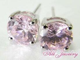 ピンクCZ(キュービック・ジルコニア)・6mm一粒 ピアス (CZ Pink Diamond Pierce)【即納】10P03Dec16【楽ギフ_包装】【あす楽対応_東北】【あす楽対応_関東】【あす楽対応_甲信越】【あす楽対応_北陸】【あす楽対応_東海