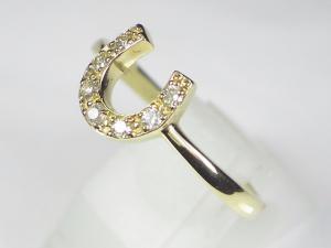K18YGダイヤリング