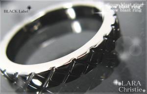 ララクリスティー LARA Christie スノーブラスト リング [ BLACK Label ブラックレーベル] 【送料無料】【即納】【プレゼントに最適】10P18Jun16【楽ギフ_包装】