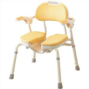 アロン化成 安寿 ひじ掛付 シャワーイス HP535-019 シャワーチェア 介護用 バスチェア シャワーベンチ お風呂椅子