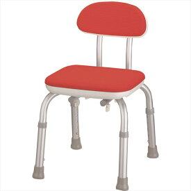 アロン化成 安寿 背付 シャワーベンチ Mini レッド 536-172 介護用 シャワーチェア バスチェア お風呂椅子