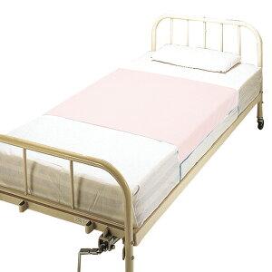 大阪エンゼル デニムシーツ 2010 ピンク 防水シーツ 幅90cm×縦170cm(防水部分105cm) ベッドシーツ 介護ベッド 高齢者 老人 乾燥機OK