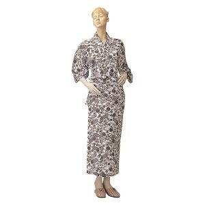 神戸生絲 ガーゼねまき背縫なしNo.6 婦 特大 女性用 婦人用 介護用 パジャマ